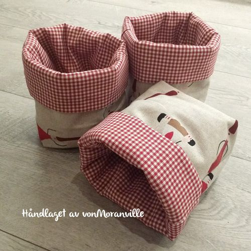 Home made fabric baskets. Perfect for gifts or a great place to store all the little things you don't know where to keep...