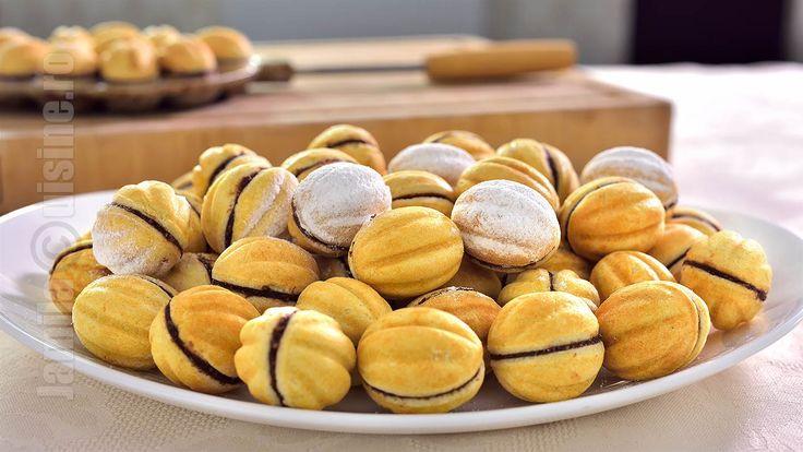 Nuci umplute | Walnut Shaped Cookies (CC Eng Sub)  | JamilaCuisine