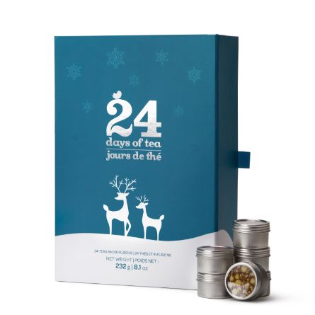 This '24 Days of Tea' calendar features a mix of returning seasonal favourites (with festive names like Santa's Secret and Sleigh Ride!) and some brand new holiday blends (Eggnog, anyone?) to count down the days to Christmas.  We're counting down the days to Christmas with 5 of our favourite edible advent calendars!