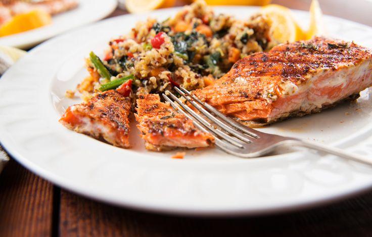 Une recette de saumon et courge