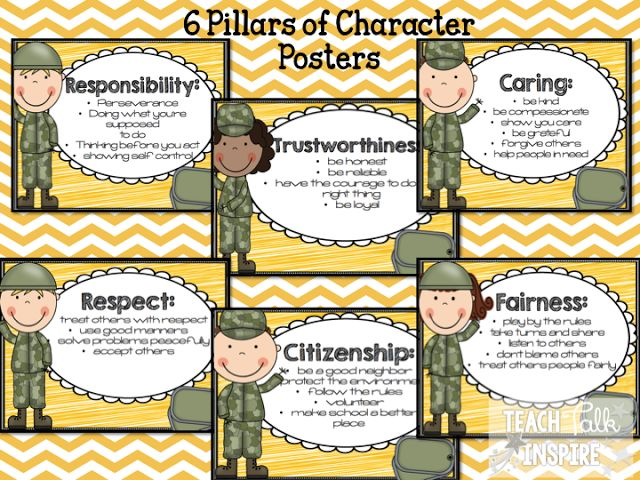 the 6 pillars of character All the stuff not assumed learn with flashcards, games, and more for free.