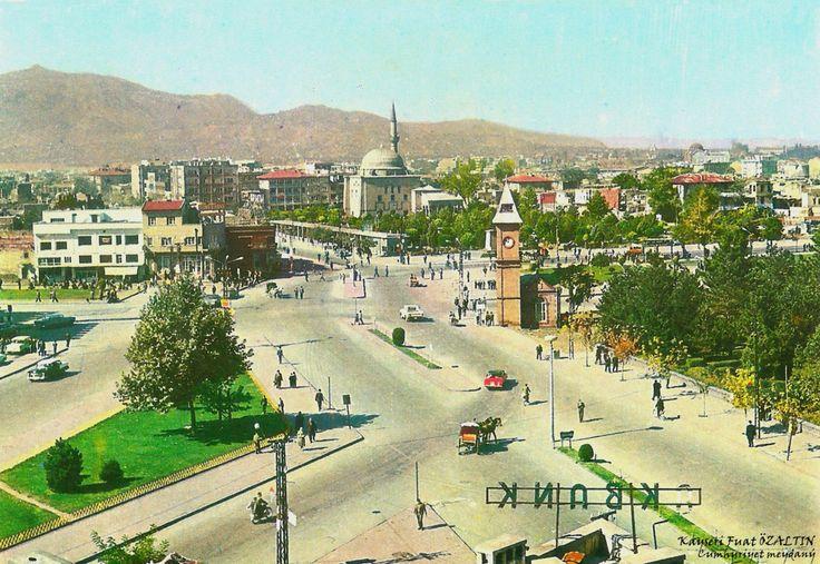 "Middle Anatolia City Kayseri (Caesarea) Old Photos ""Cumhuriyet Meydanı"" [Republic Square]"