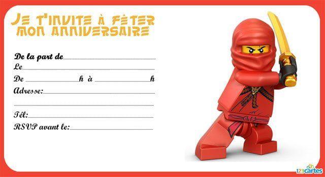 Lego Ninjago 3 Anniversaire Lego Invitation Anniversaire Garcon Cartes Invitation Anniversaire Enfant