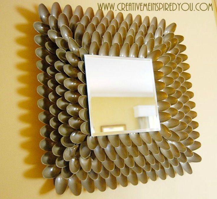 S 11 formas brillantes de reutilizar cucharas de plástico, que pinten en un marco imponente