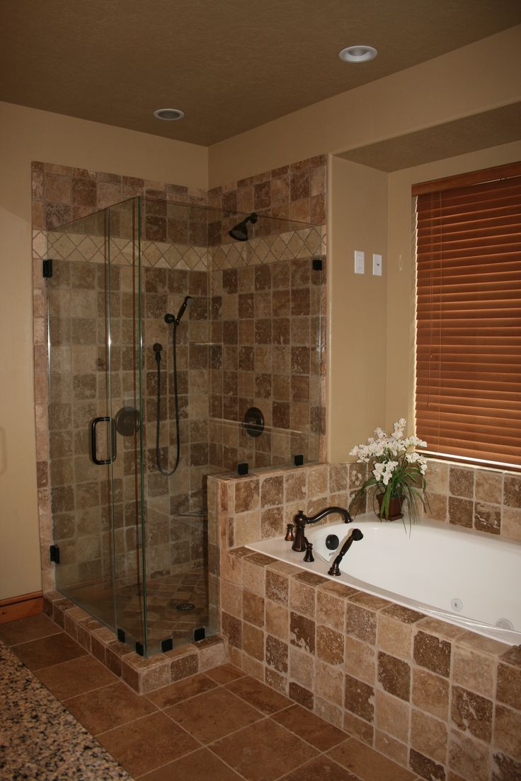 17 best ideas about stand up showers on pinterest for Custom master bathroom designs