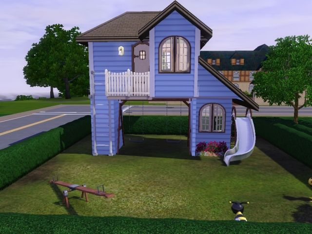 So in one of my most recent houses I came up with this playhouse and someone suggested that I create a tutorial for it, so for anyone who's seen it and wanted to know how I did it I shall explain it here.