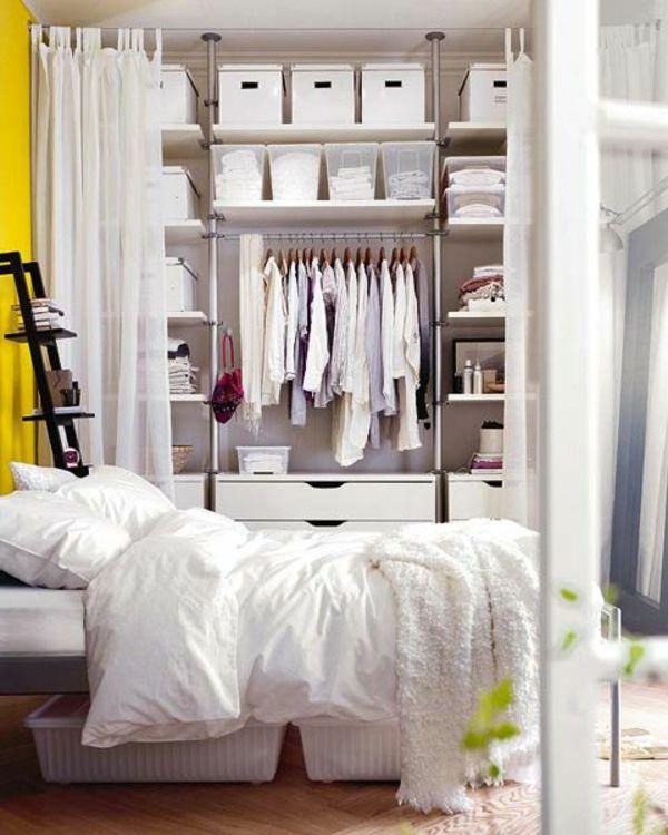 die 25+ besten kleine schlafzimmer ideen auf pinterest - Kleines Schlafzimmer Mit Begehbarem Kleiderschrank