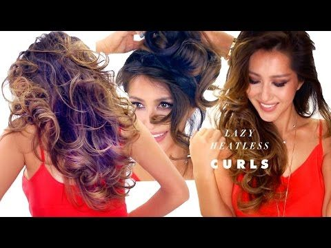 ▶ LAZY HEATLESS CURLS Overnight Hairstyle | How to Grow Your Hair Faster Longer Thicker - YouTube