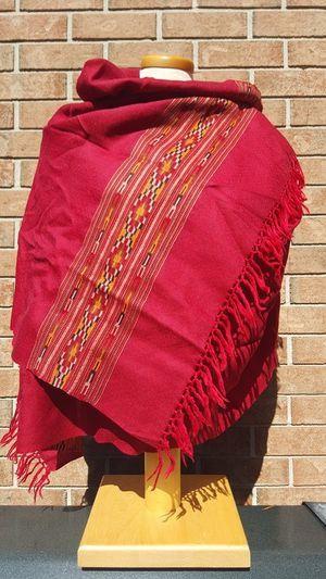 Merino Wool Kullu Shawl in Red