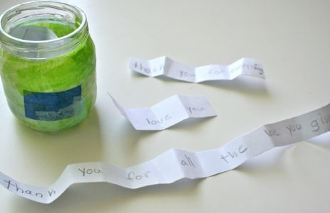 Put-Up Jar: A jar full of thankful notes for a particular person. Love thins!