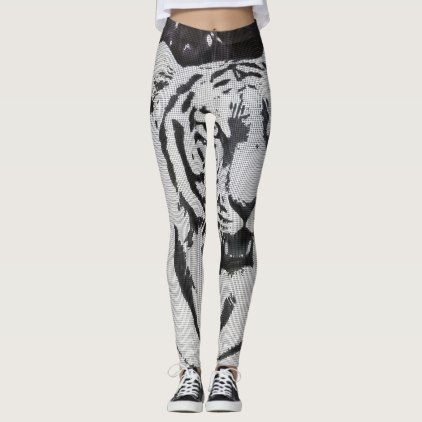 Urban Pop Art Tiger Leggings - white gifts elegant diy gift ideas