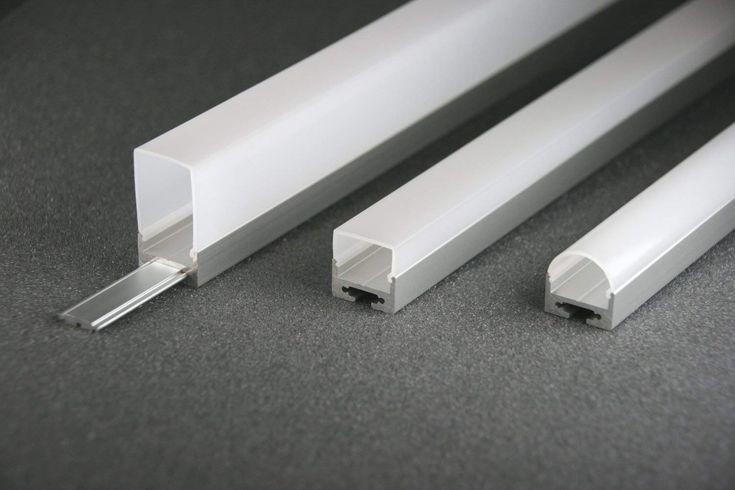 LED alu Profil LS1911, 2m, eloxiert + weiße CAbdeckung