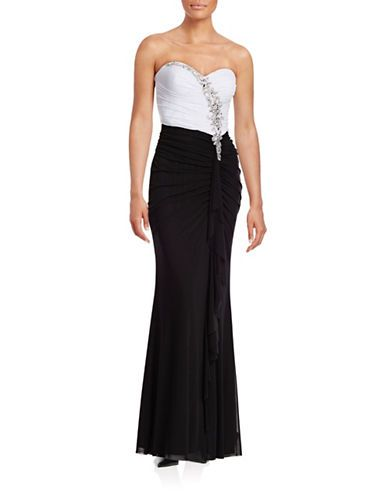 womens prom dresses embellished sideruffle gown