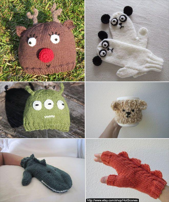 Estos guantes de pura lana australiana recuerdan a los dragones legendarios, como puedes ver son muy originales y muy bonitos.