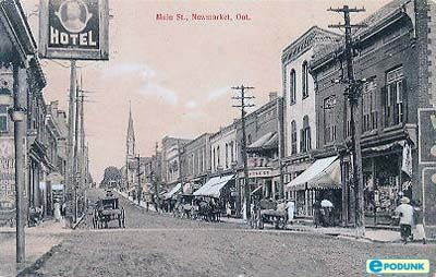 I love historical photos! Main Street, Newmarket, Ontario
