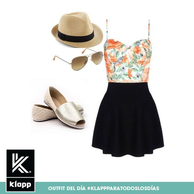 Este outfit es ideal para ir a la playa, no olvides tus #Klapp y el bronceador! #AmomisKlapp #outfitdeldia #meencantalamoda #mystyle #bestoftheday
