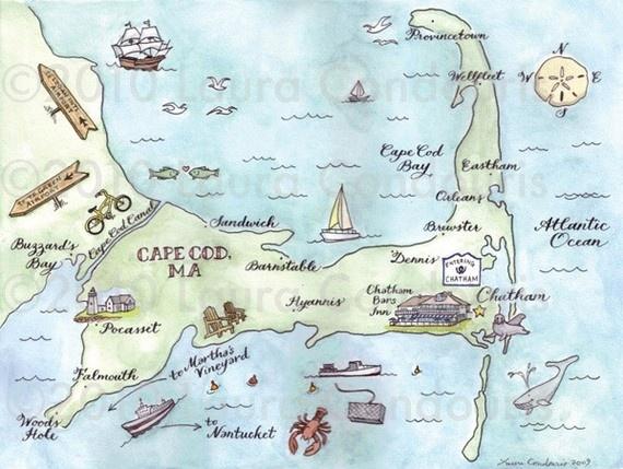 Cute wedding map of Cape Cod!
