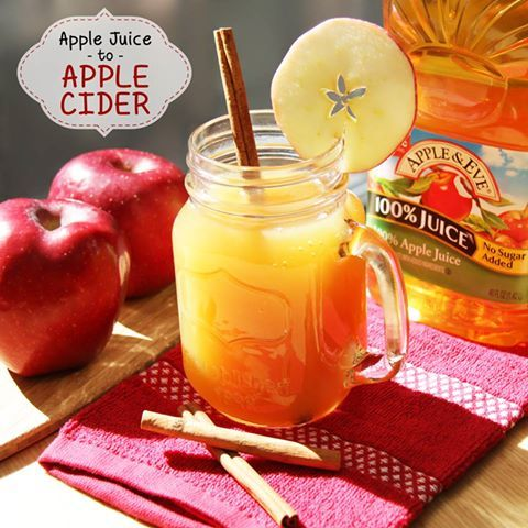 1. Pour 12 cups of apple juice into a large pot. Set on the stove & turn burner to warm. 2. Stir in 1 Tablespoon ground cinnamon, 1 Tablespoon of honey, 1 teaspoon vanilla extract, and approximately 15 whole cloves. 3. Warm on low for 30 minutes or more. 4. Serve hot or cold, but pour the cider through a strainer to catch out those whole cloves before drinking.