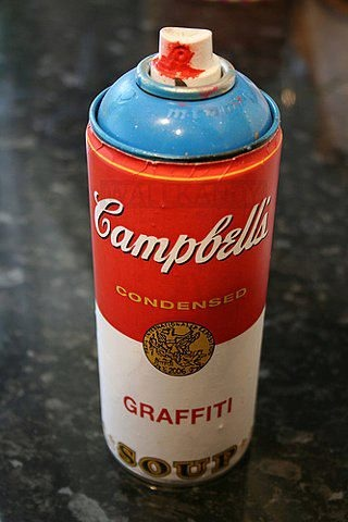 Campbell's Graffiti Soup. Spray Can.