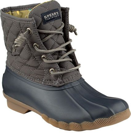 Sperry Saltwater Quilted Navy/Graphite  - Womens