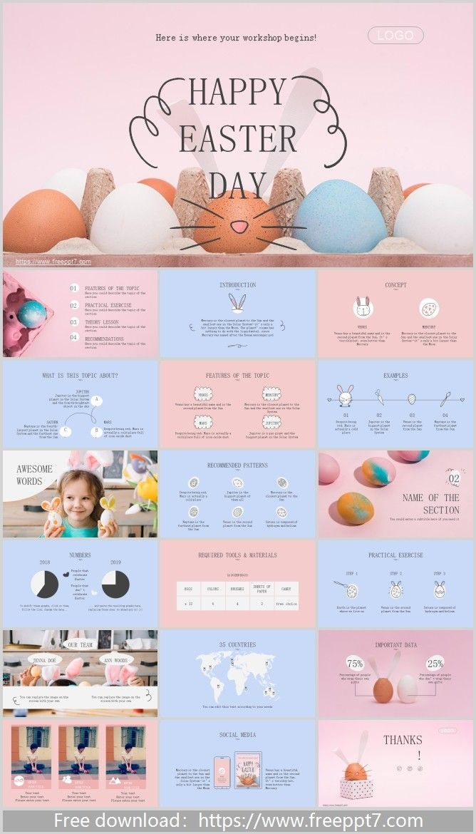 Easter Powerpoint Template Powerpoint Templates Powerpoint Templates