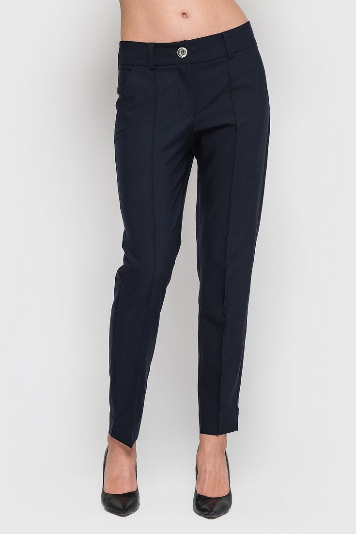 Dark-blue suit arrowed pants 26$. It's practically impossible to create stylish business woman without its main element - classic #trousers. dark-blue female #pants arrowed be perfectly combined with other article of clothing business woman, such as, for example, women's jackets and shirts. Thanks costume fabric, sewed from which these women's pants, they are pleasing to the body and also suitable for the hot summer and cold winter days. #VOVK