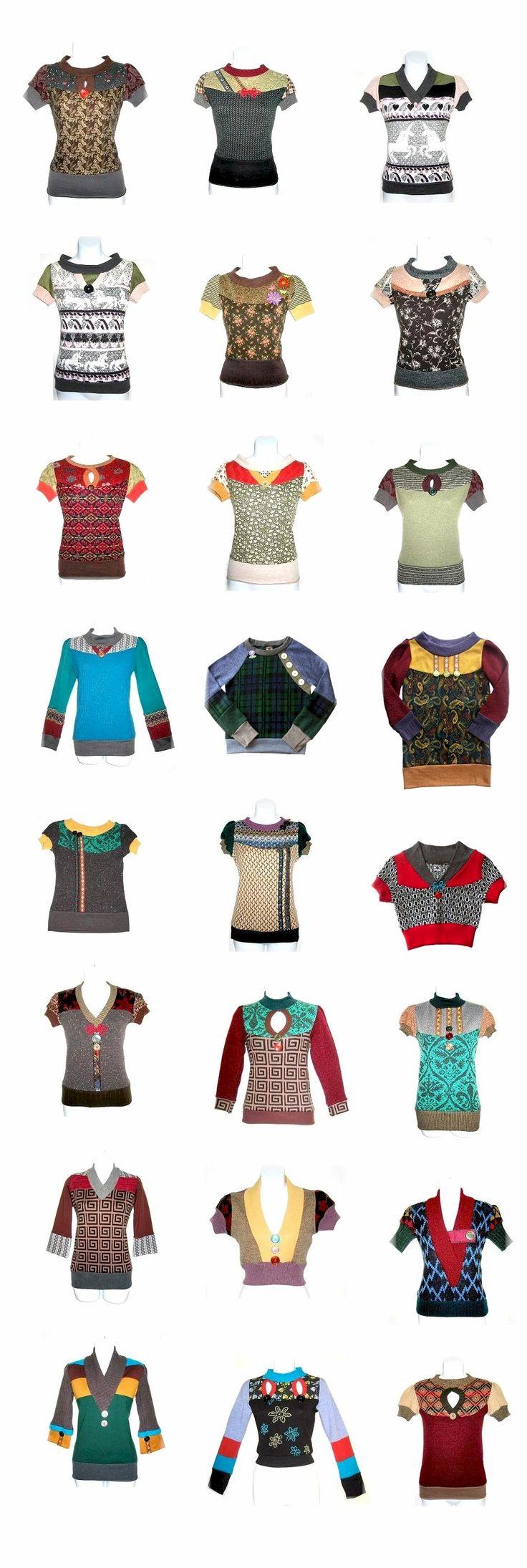 diy inspiration: recycle old sweaters! (Nur Anregungen, keine Anleitung.)
