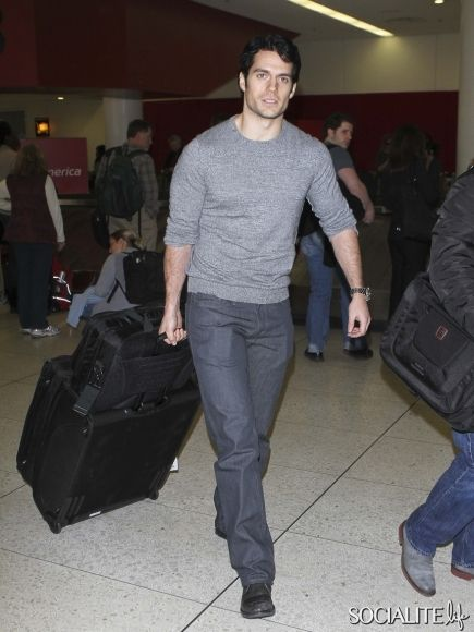 The New Superman Henry Cavill Prepares To Depart LAX