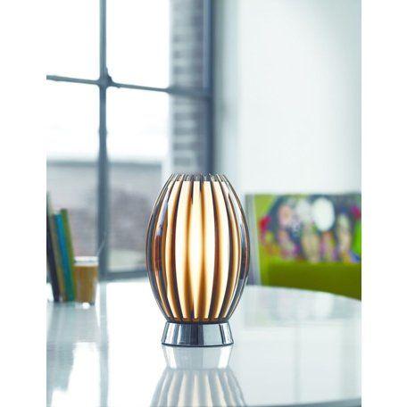 Tentacle en vacker stilfull bordlampa från Herstal med ett forstat innerglas.