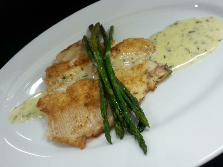 Fresh trout with lemon beurre blanc & grilled asparagus | Dinner ...