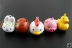 5 Mixed Enamel Christmas Animal Bell Charms Pendants 27x25mm $3.36