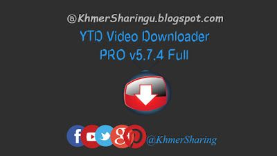 YTD Video Downloader PRO v5.7.4 Full | KhmerSharingu.blogspot.com   YTD Video Downloader is more than a Youtube downloader. It allows you to download HD and HQ videos from dozens of sites and convert them to other video formats. The program is easy to use. Just specify the URL similar to a Youtube downloader for the video you want to download and click the Download button. From there YTD Video Downloader will download the video from the URL you specified. The program also allows you to…