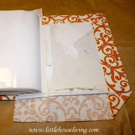Simple Homemade Gifts - Fabric Covered Photo Album - Christmas Gifts