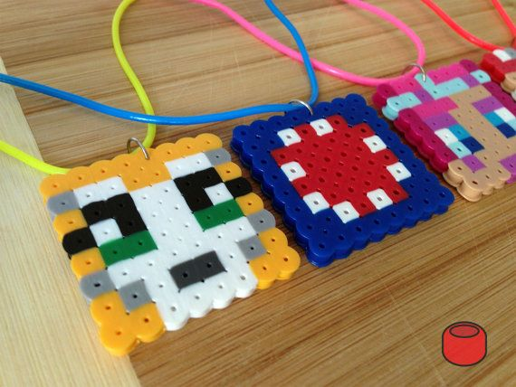 Stampy Cat iBallisticSquid and Friends Necklaces made by DJbits