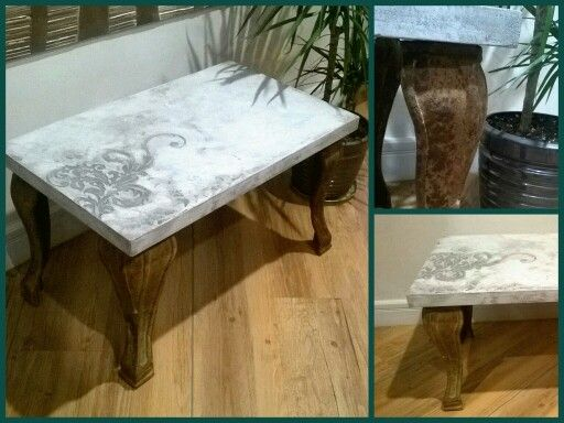 Нашли старые ножки, сделали стол!