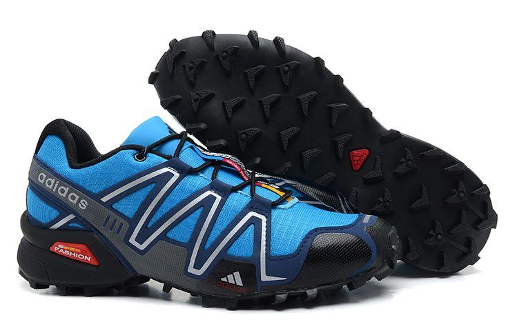 Salomon Mens Turquoise Dark Blue Shoes