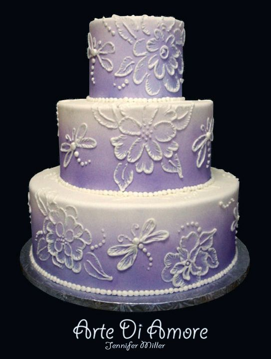 Dragonfly cake!  I would LOVE a cake like this!  Purple is my favorite color...and we all know why I love those dragonflies!  Happy birthday to me??? LOL