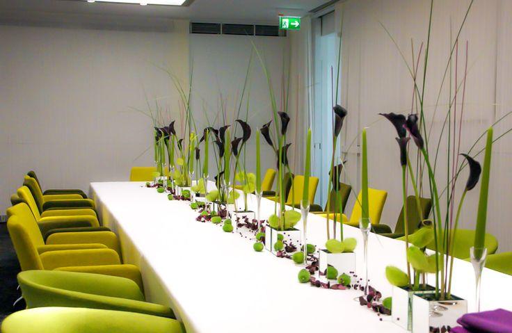 black calla decoration for a conference