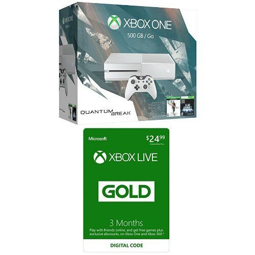 Xbox One 500GB White Console – Special Edition Quantum Break Bundle with Xbox Live 3 Month Gold Membership [Digital Code] #deals