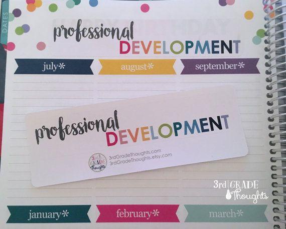 Erin Condren Teacher Planner Stickers & Setup - 3rd Grade Thoughts