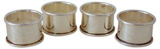 Classic Silver Napkin Rings, Set of 4 | Tennis