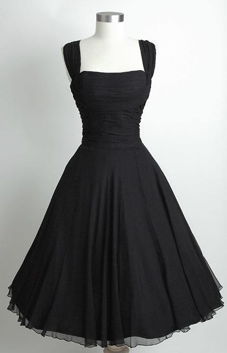 Vintage bridesmaid dresses love it but not in black for a for Little black wedding dress