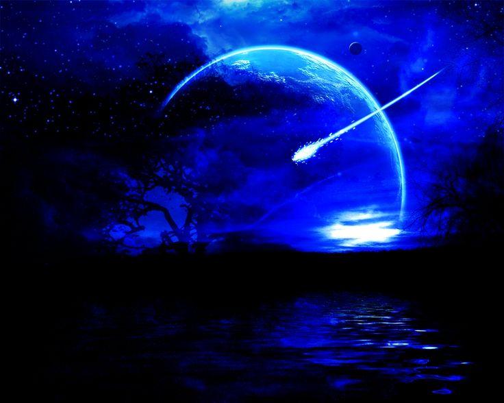 shooting star, tree, moon | Pretty | Pinterest | Trees ...