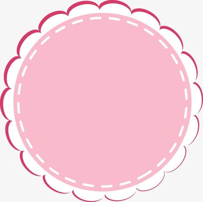 cute cartoon circular lace border  cartoon  lovely  round cartoon vector image cartoon vector hands