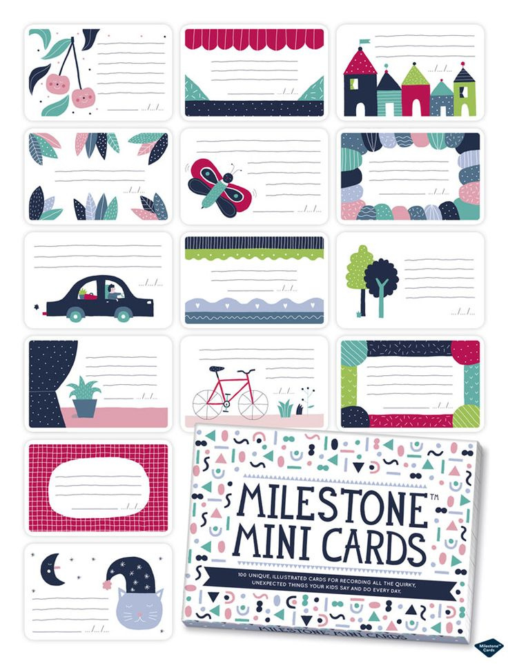 Perfect gift for kids ad parents: Milestone™ Mini cards! http://www.milestonecards.com/milestone-mini-cards/