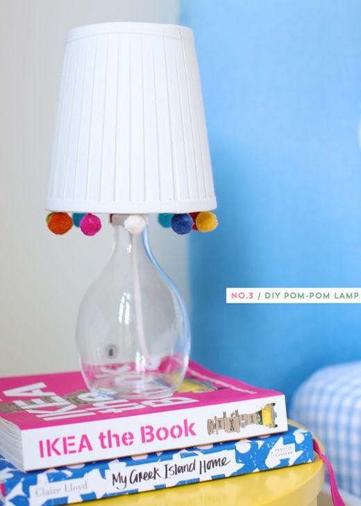 DIY Pom-Pom Lamp
