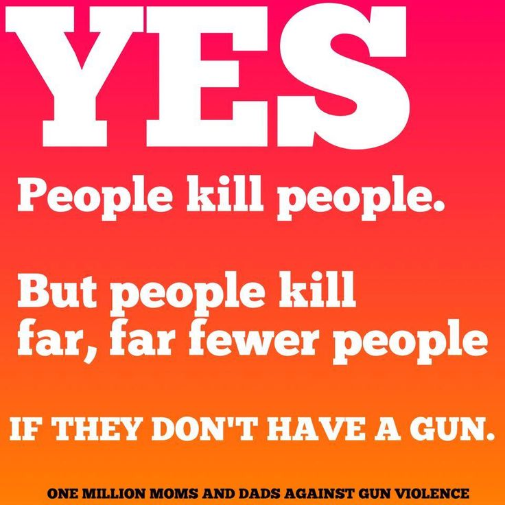 Yes, people kill people, but people kill far, far fewer people if they don't have a gun.