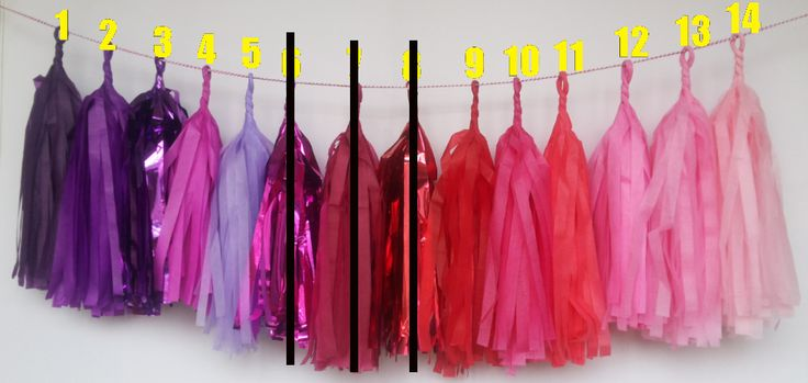 Packs of 5 of the same colour for $9.50 - 35cm long