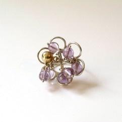 Ametist Çiçek Yüzük  - #tasarim #tarz #mor #rengi #moda #hediye #ozel #nishmoda #purple #colored #design #designer #fashion #trend #gift