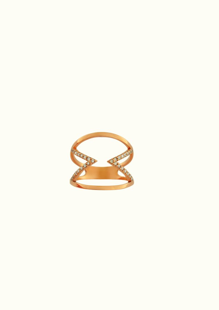 triangles ring-1 pink gold